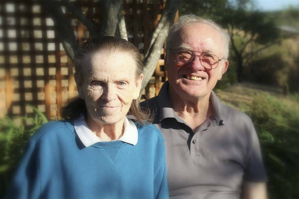 This undated photo provided by their son, Tim Halbur, shows Leroy Halbur, 80, and his wife, Donna Halbur, 80. The couple were unable to leave their Santa Rosa, Calif., home when a wildfire destroy ...