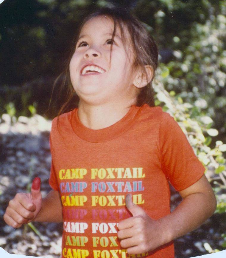 A camper dances at the Girl Scouts' Foxtail Camp in this photo from the 1980s. (Girl Scouts of Southern Nevada)
