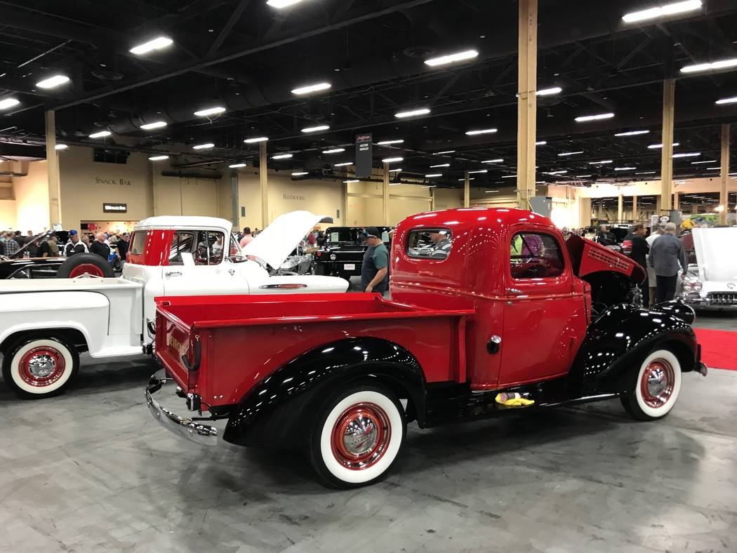 Cars on display at the Barrett Jackson car auction in Las Vegas on Thursday, October 19, 2017. (Todd Prince/Las Vegas Review-Journal)