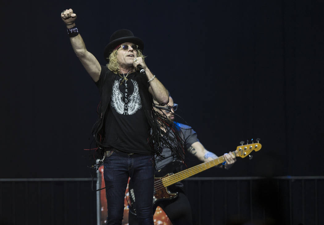 "Big & Rich perform during ""Vegas Strong: A Night of Healing"", a benefit concert on Thursday, October 19, 2017, at The Orleans Arena, in Las Vegas, for first responders and those affected by th ..."