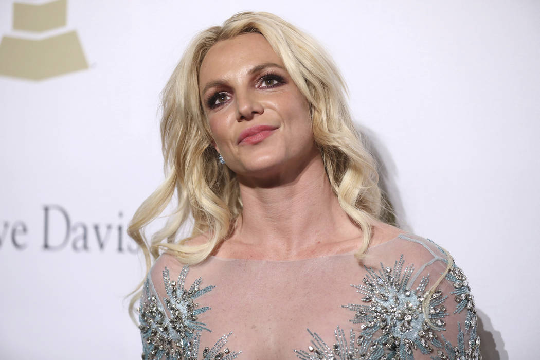 Britney Spears attends the Clive Davis and The Recording Academy Pre-Grammy Gala at The Beverly Hilton Hotel on Feb. 11 in Beverly Hills, California. She is donating her art work to the VegasCares ...