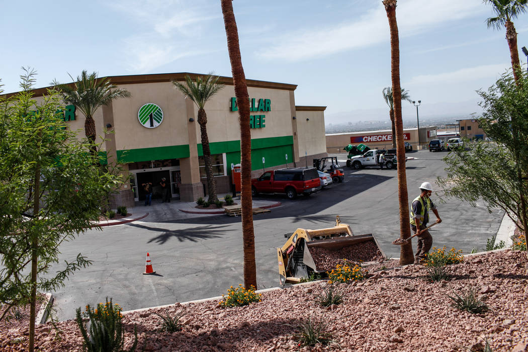 A soon to be opened Dollar Tree located at the corner of Lake Mead and Hollywood boulevards in Las Vegas, Friday, Oct. 20, 2017. Joel Angel Juarez Las Vegas Review-Journal @jajuarezphoto