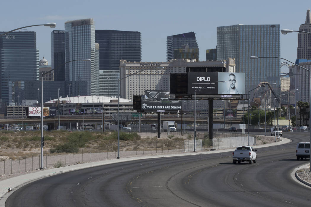 The Raiders stadium site in Las Vegas near Russell Road  and Dean Martin Drive on Tuesday, Aug. 15, 2017. Heidi Fang Las Vegas Review-Journal @HeidiFang