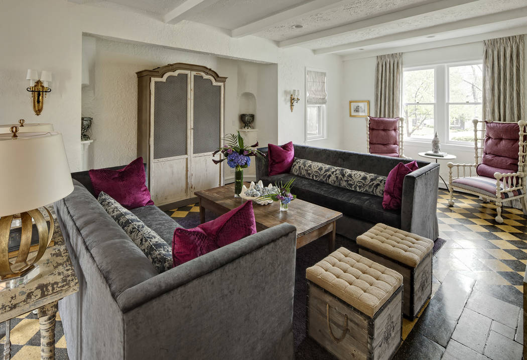 Buckingham Interiors + Design Warm Woods, Rich Reds And Antique Inspired  Pieces Create A