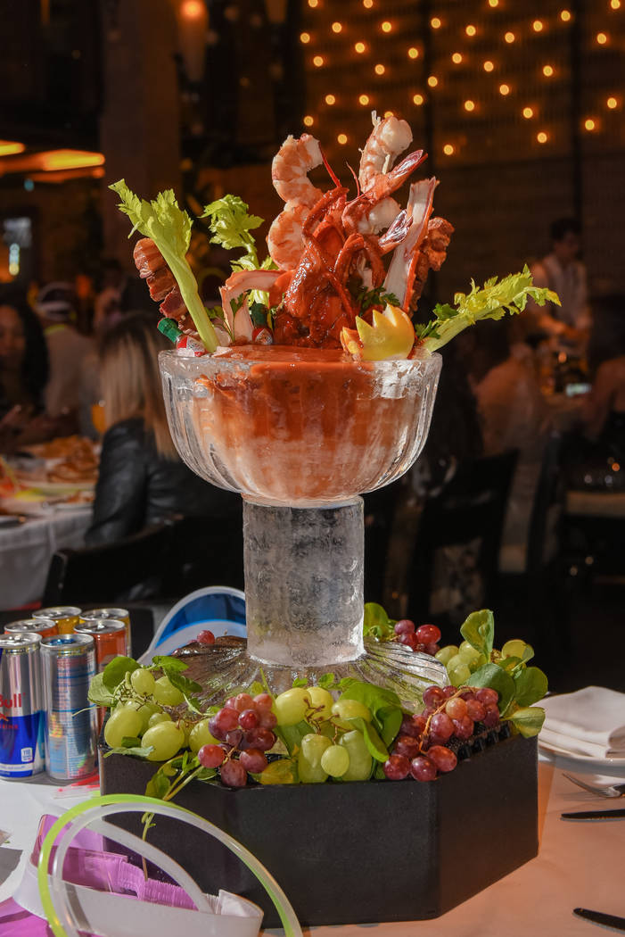 The $250 Party Brunch Bloody Mary at Lavo at The Venetian.