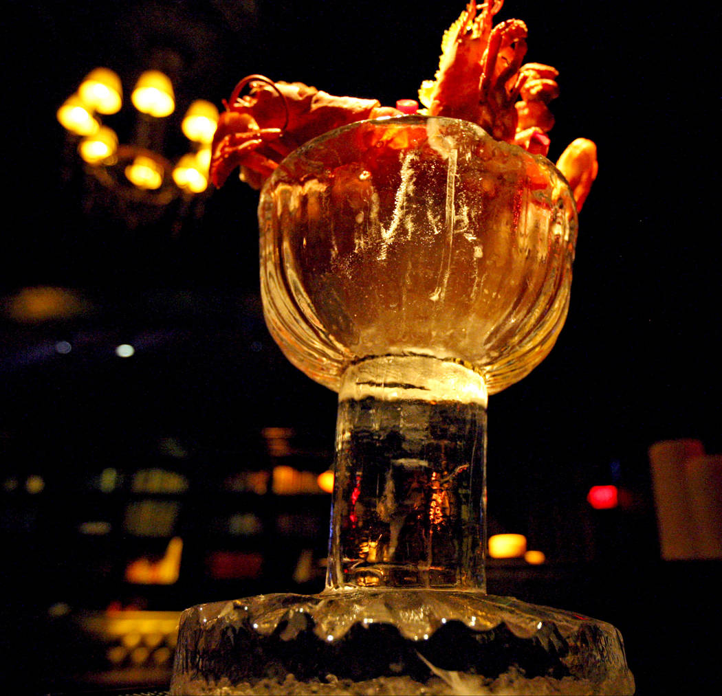 The Giant Bloody Mary is served at LAVO Italian Restaurant & Lounge during the restaurant's party brunch at the Palazzo hotel-casino Las Vegas, Saturday, Oct. 21, 2017. Gabriella Benavidez Las ...