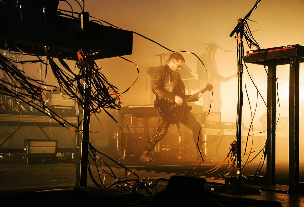 Trent Reznor performs with Nine Inch Nails at The Joint on Friday, October 20, 2017, at The Hard Rock hotel-casino, in Las Vegas. Benjamin Hager Las Vegas Review-Journal @benjaminhphoto