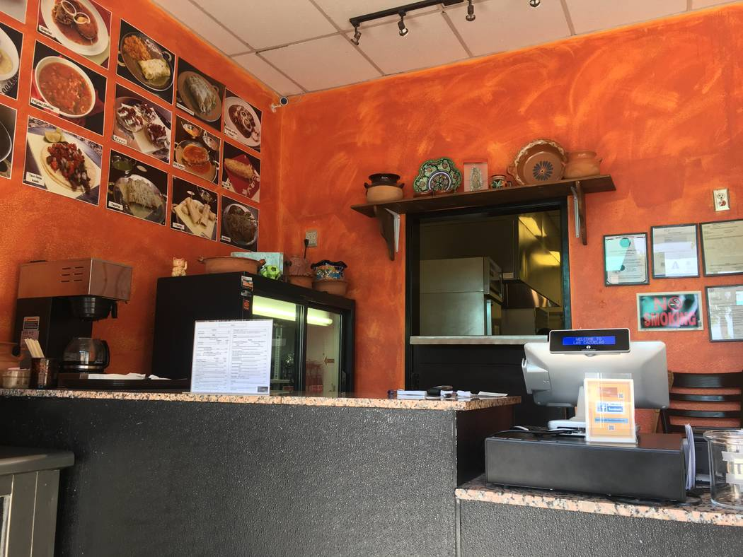 The front ordering counter at Las Cazuelas. (Diego Mendoza-Moyers/View) @dmendozamoyers