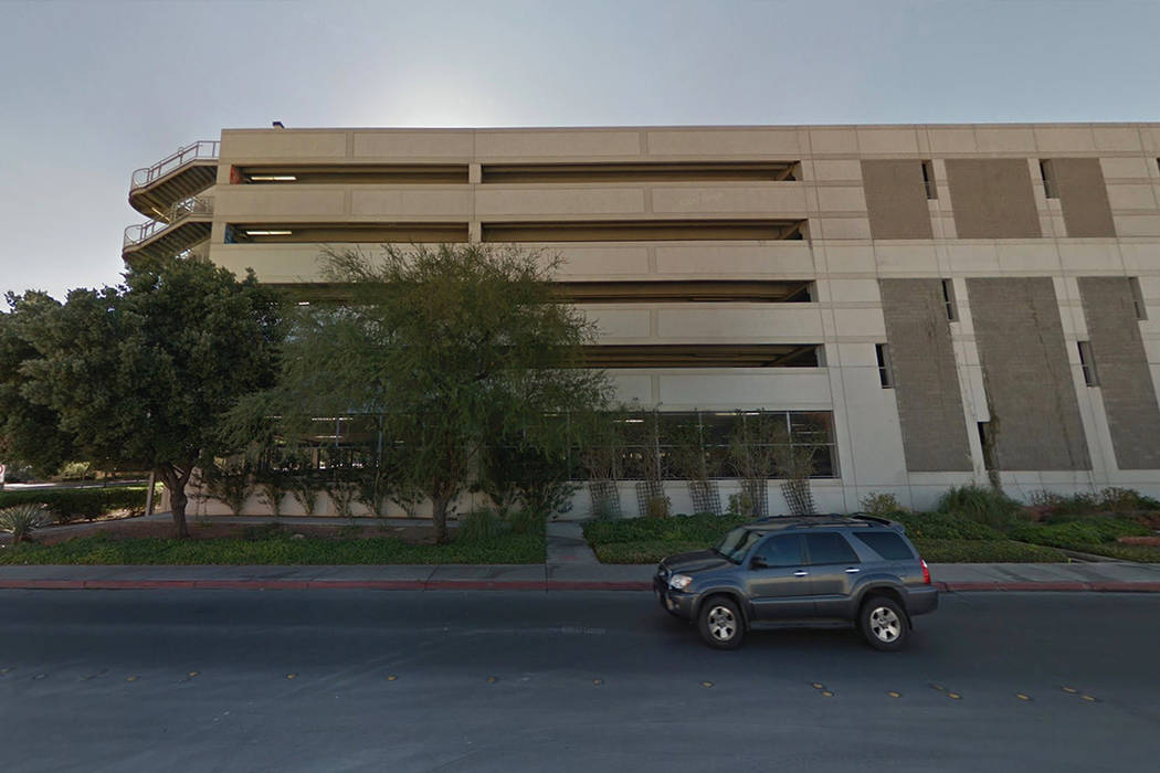 Cottage Grove Parking Garage at UNLV. Google Street View