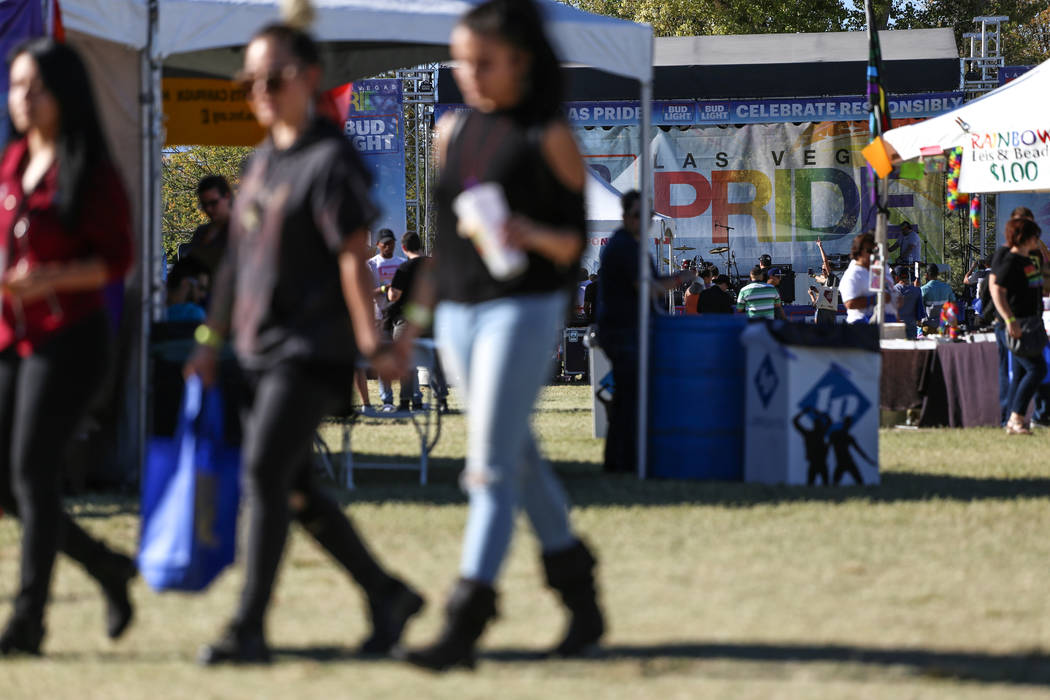 The Las Vegas PRIDE Festival at Sunset Park in Las Vegas, Sunday, Oct. 22, 2017. Joel Angel Juarez Las Vegas Review-Journal @jajuarezphoto