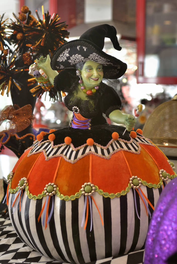 A big Halloween party is a tradition for longtime Las Vegas entertainer Frank Marino. He says he keeps the decorations cherry instead of gory. (Bill Hughes Real Estate Millions)