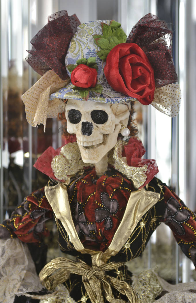 The home's entry displays several Halloween creations, Frank Marino has collected over the years. (Bill Hughes Real Estate Millions)