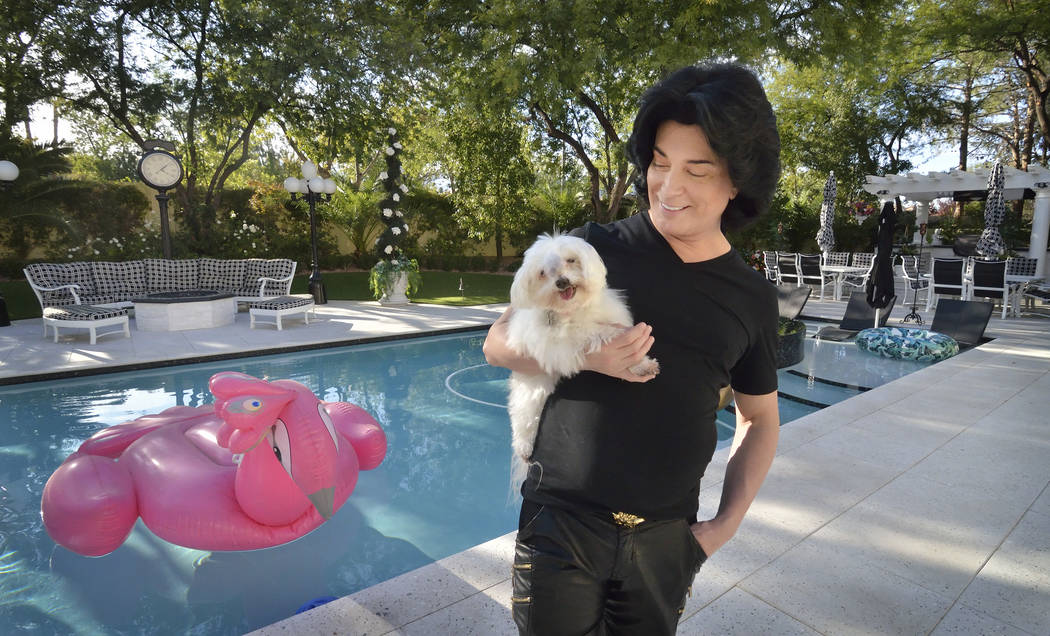 Entertainer Frank Marino gets ready for his annual Halloween party in his new Summerlin home. Part of the appeal of the Eagle Hills residence for him and his partner, Alex Schechter, vice presiden ...