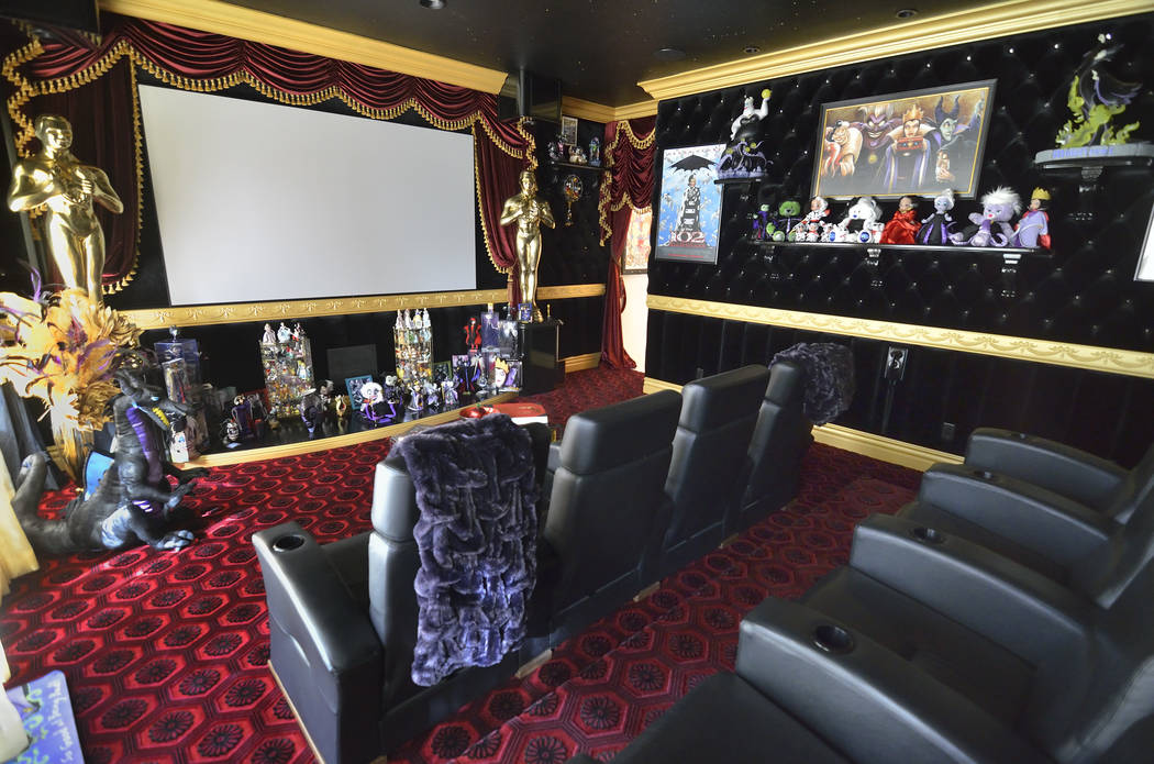 """The Disney-themed home theater is on the first floor and will be playing """"Hocus Pocus"""" during the big party. (Bill Hughes Real Estate Millions)"""