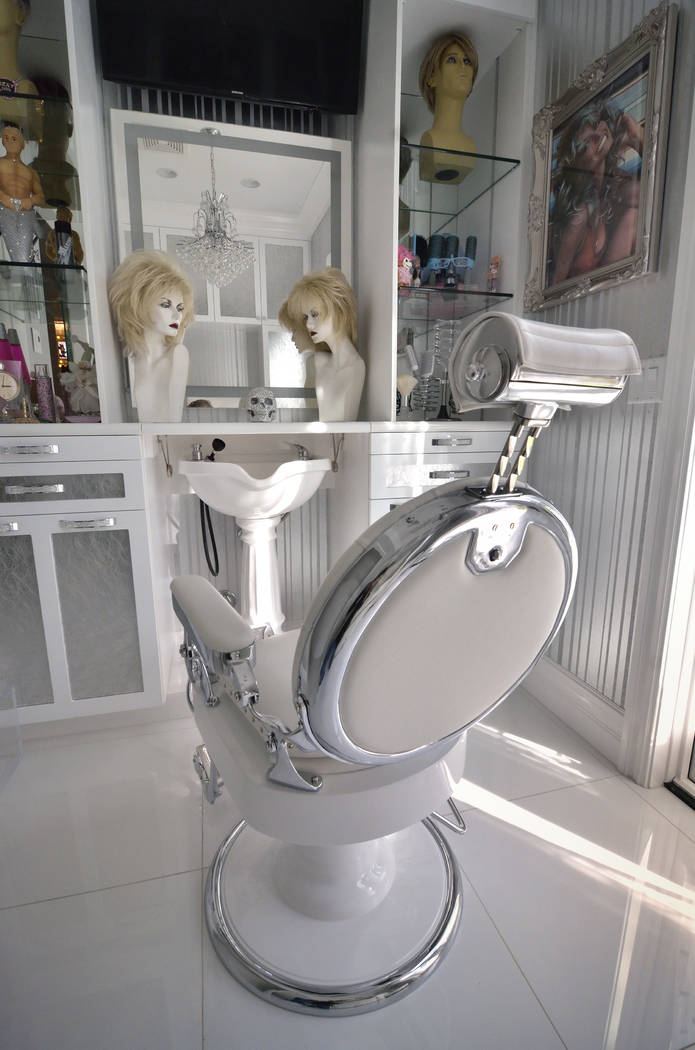 The home includes a downstairs barber shop and salon. (Bill Hughes Real Estate Millions)