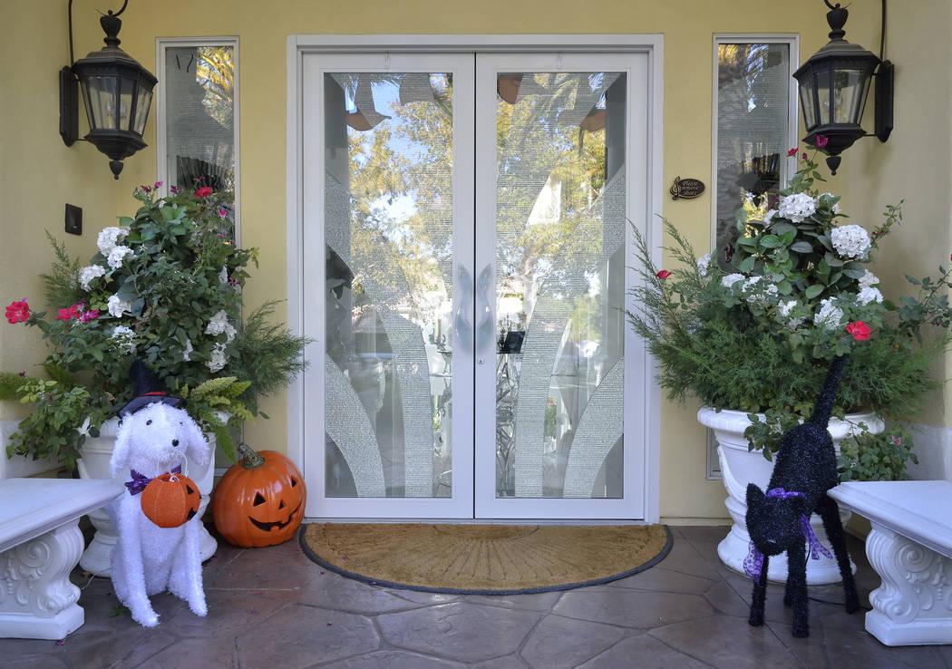Halloween starts at the door at Frank Marino's house. (Bill Hughes Real Estate Millions)