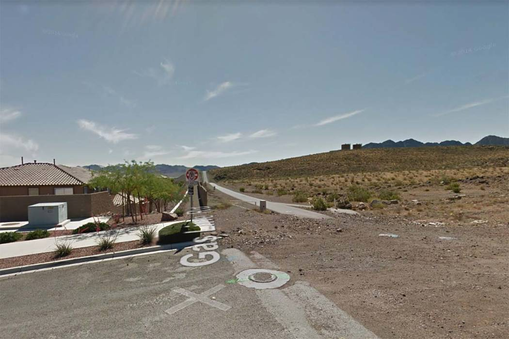 A body was found in a desert area in Henderson about two miles south of the intersection of East Horizon Ridge Parkway and Ray Boulevard, Friday, Sept. 29, 2017. (Google Street View)