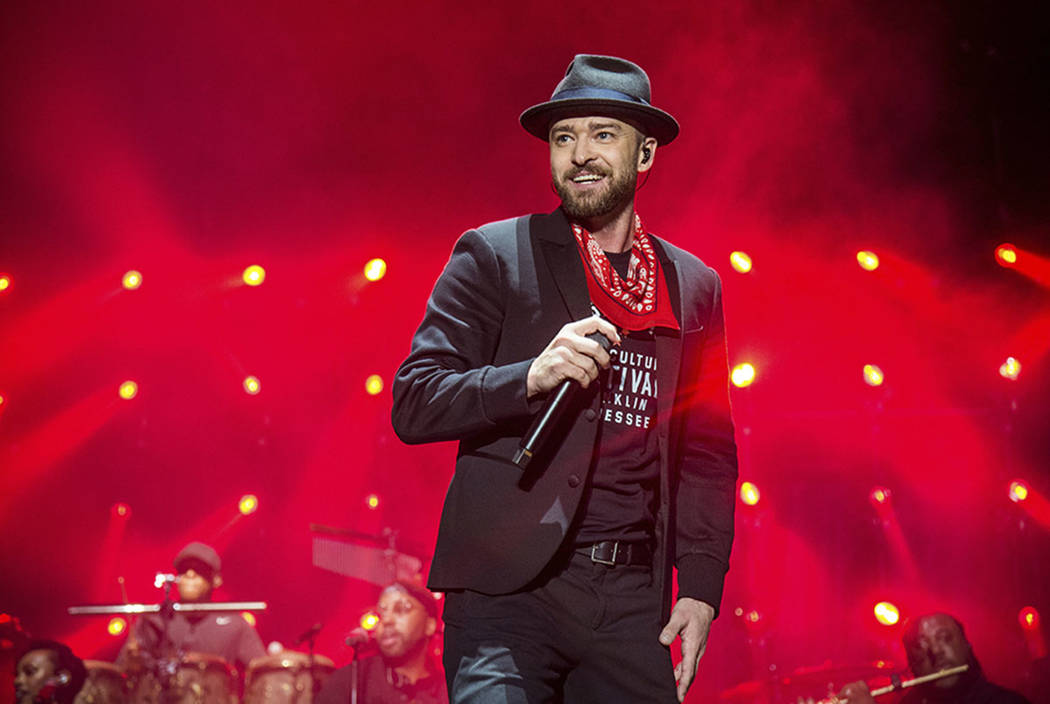 Justin Timberlake performs at the Pilgrimage Music and Cultural Festival in Franklin, Tenn., in September. (Photo by Amy Harris/Invision/AP, File)