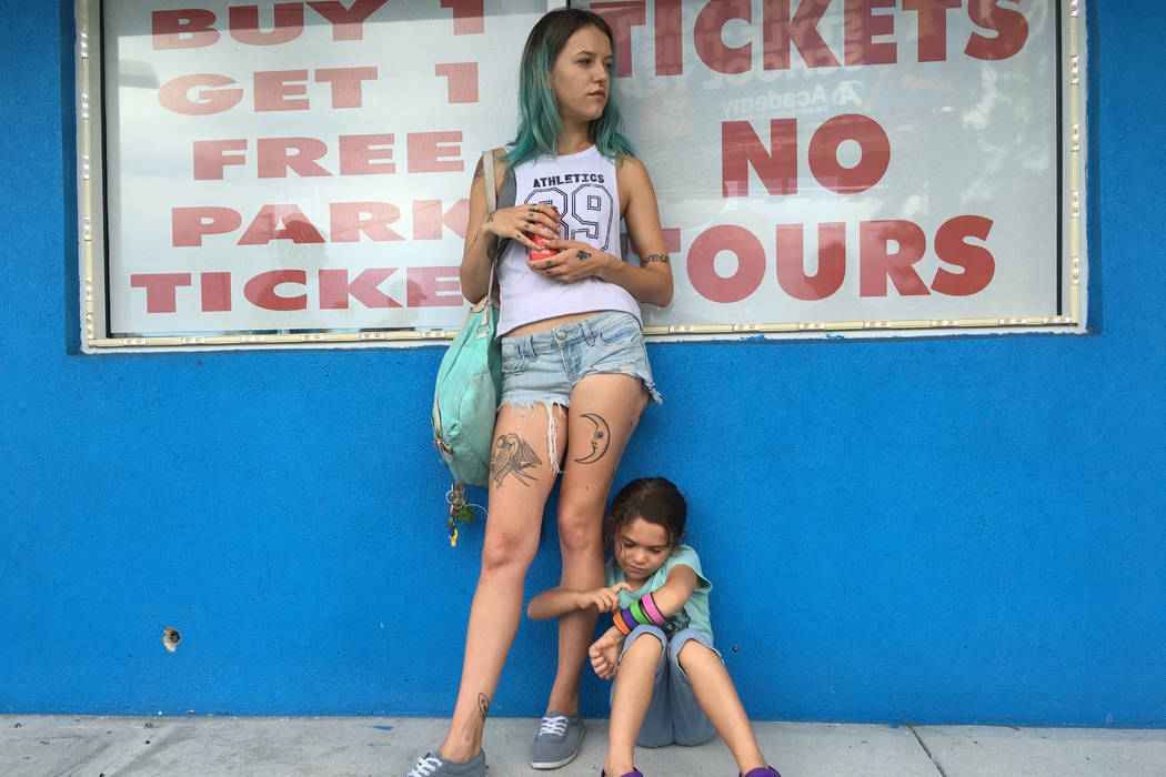 "Bria Vinaite and Brooklynn Prince star in ""The Florida Project."" (Photo by Marc Schmidt/A24)"