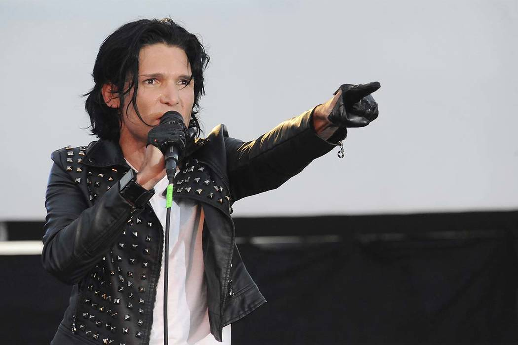 Corey Feldman, seen in a May 2013 performance in Los Angeles, was charged with possession of marijuana on Oct.  21, 2017, in Mangham, Louisiana. (Katy Winn/Invision/AP, File)