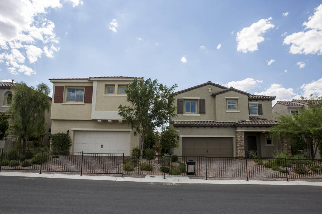 Model homes in the Century Communities project in southwest Las Vegas on Wednesday, Aug. 9, 2017.  Patrick Connolly Las Vegas Review-Journal @PConnPie