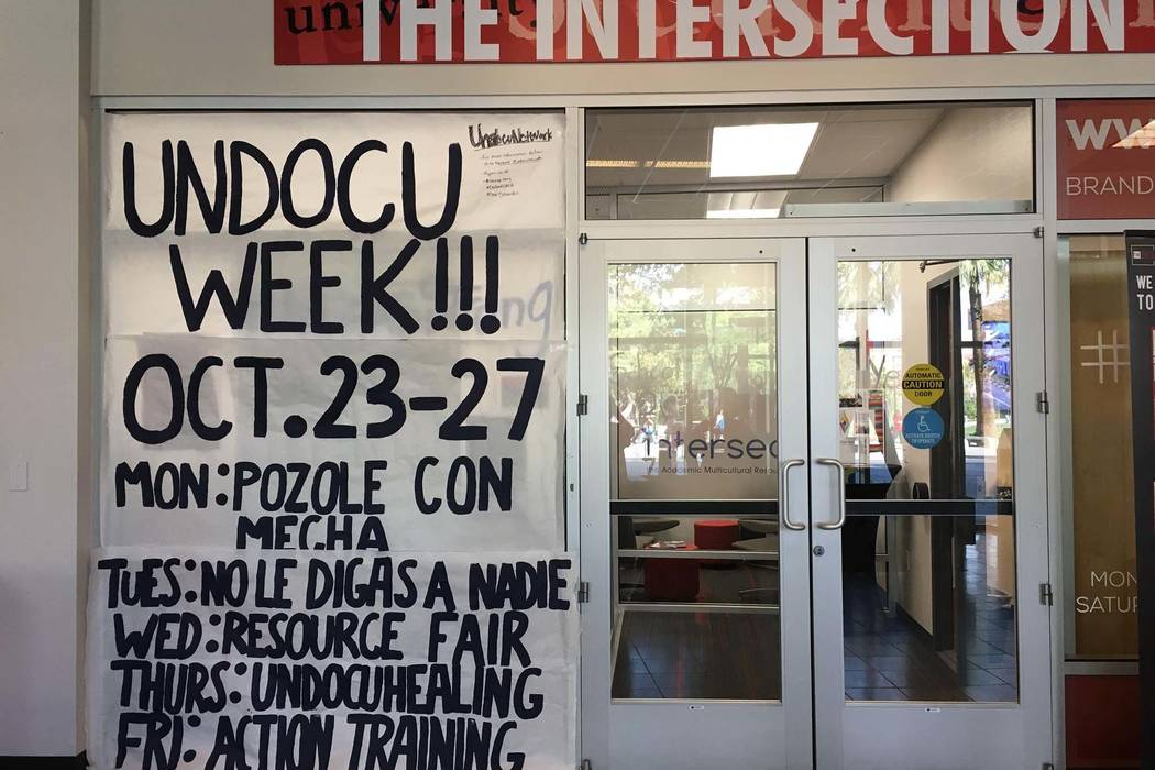 "A UNLV group is sponsoring ""UndocuWeek,"" offering legal and health information and networking and advocacy opportunities to undocumented students. (Facebook)"