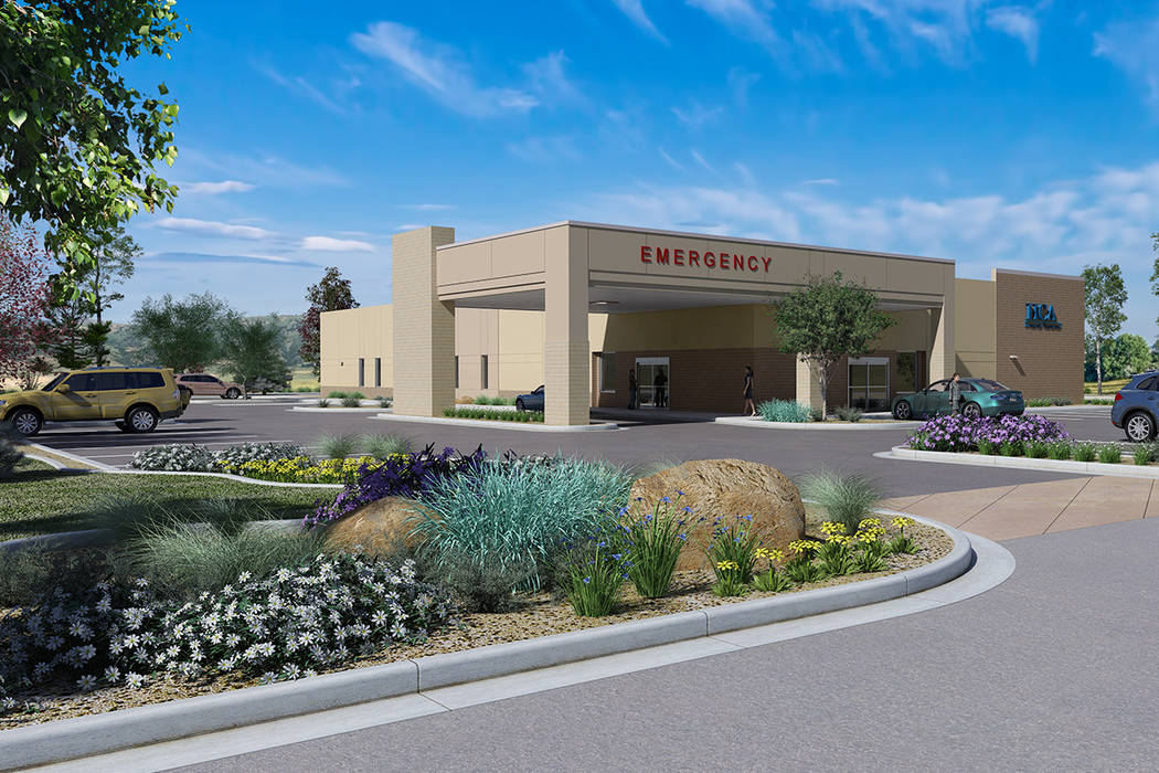 Rendering of a freestanding 24-hour emergency room that MountainView Hospital is building in North Las Vegas. (MountainView Hospital)