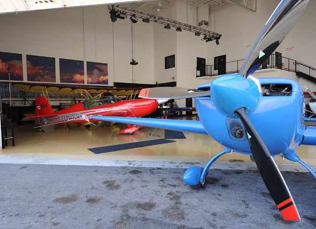 Two planes are seen at Sky Combat Ace. (Jerry Henkel/Las Vegas Review-Journal)