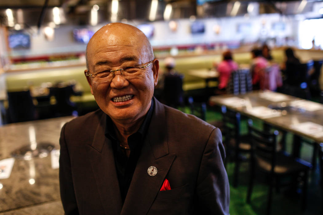 Hae Un Lee, owner of Lee's Korean BBQ, poses for a portrait in his restaurant in Las Vegas, Tuesday, Oct. 24, 2017. Lee attended a meeting Tuesday addressing Asian restaurant owners' concerns abou ...