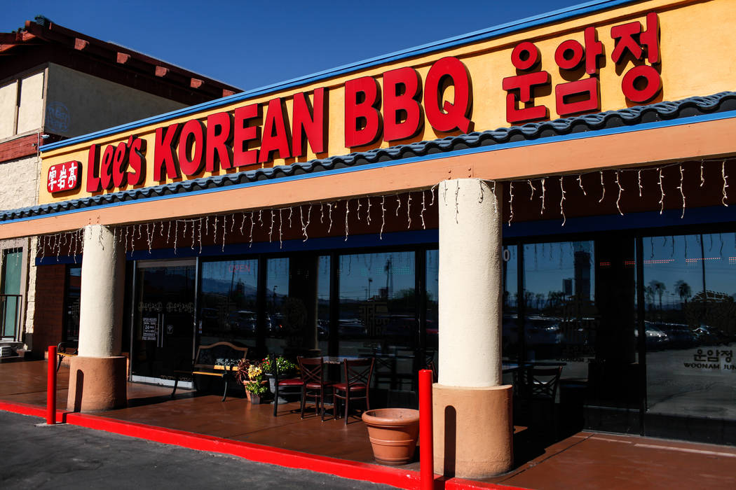 Lee's Korean BBQ in Las Vegas, Tuesday, Oct. 24, 2017. Owner Hae Un Lee attended a meeting Tuesday addressing Asian restaurant owners' concerns about the Southern Nevada Health District. Joel Ange ...