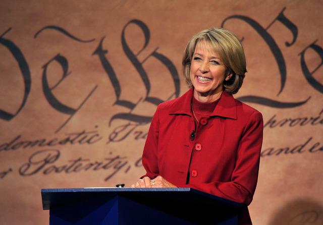 Nevada secretary of state candidate Barbara Cegavske. (David Becker/Las Vegas Review-Journal)