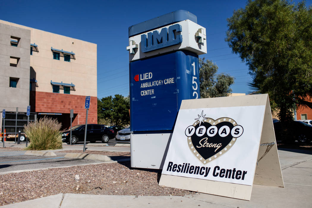 The Vegas Strong Resiliency Center located at the UMC Lied Ambulatory Care Center in Las Vegas, Monday, Oct. 23, 2017. Joel Angel Juarez Las Vegas Review-Journal @jajuarezphoto