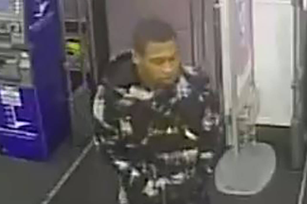 Las Vegas police are searching for a man who robbed a west Las Vegas Valley pharmacy Sunday night. (Las Vegas Metropolitan Police Department)