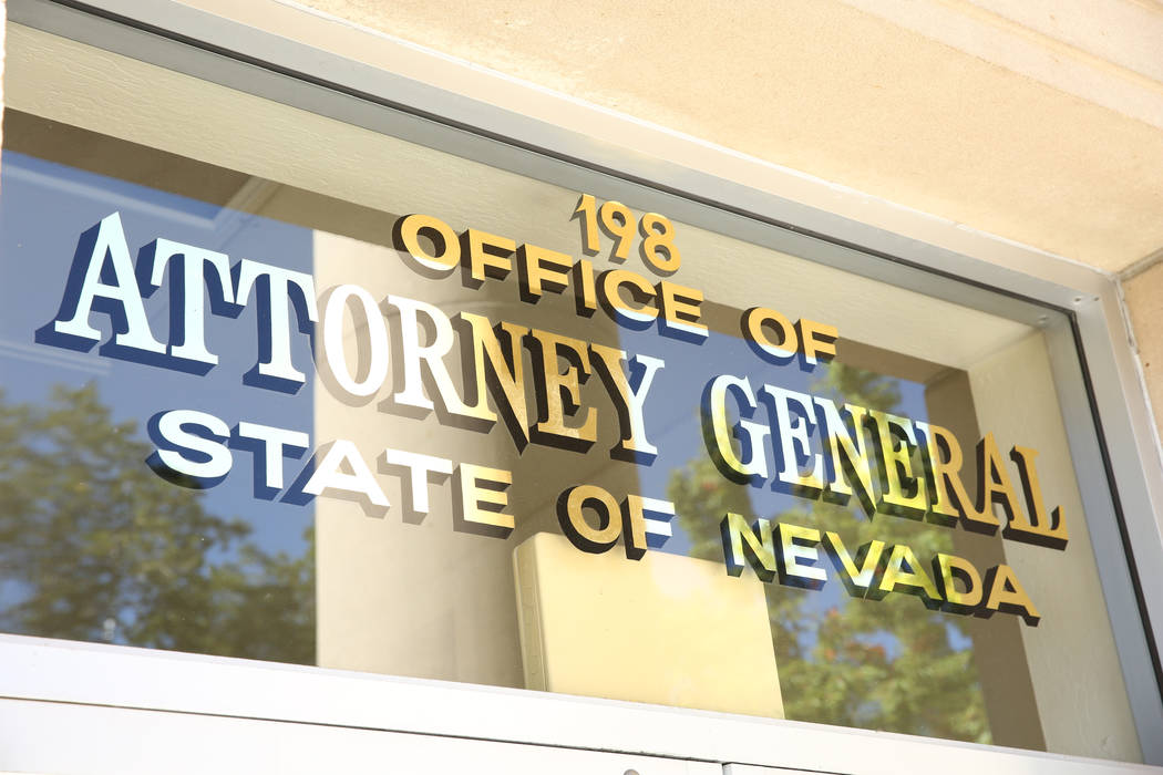 Nevada Attorney General office in Carson City. (David Guzman/Las Vegas Review-Journal) @davidguzman1985)