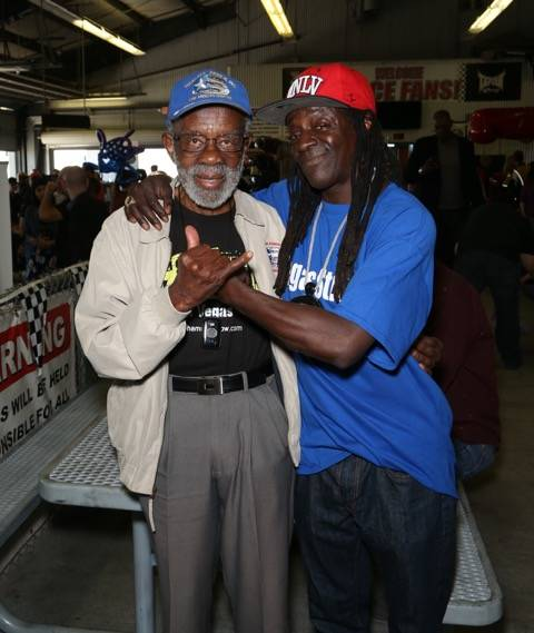 Gabe Ginsberg for Mike Hammer Productions Tuskegee Airmen Lt. Col Theodore Lumpkin  & Flavor Flav