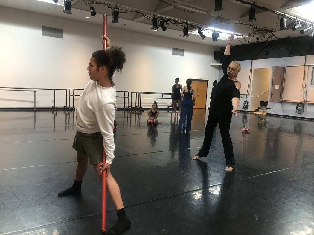 UNLV dance student Malik Gray and Vikki Baltimore-Dale during rehearsal on October 24, 2017 at 4505 S. Maryland Parkway. (Kailyn Brown/View) @KailynHype