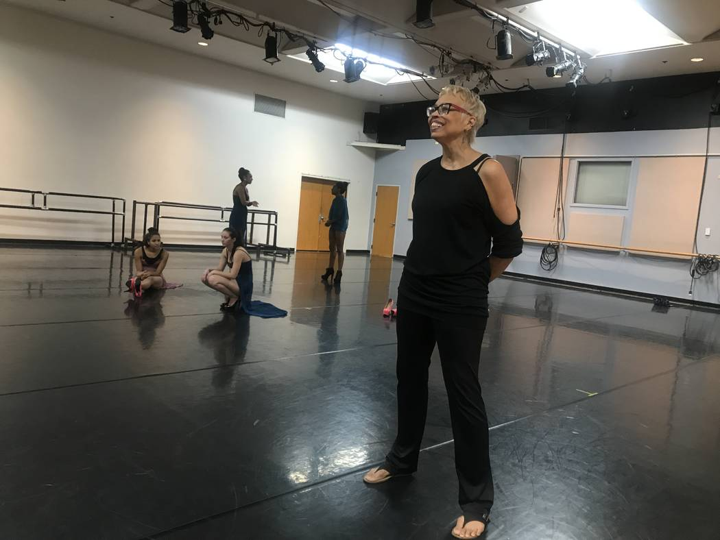 UNLV jazz full professor Vikki Baltimore-Dale watches student rehearse during rehearsal on October 24, 2017 at 4505 S. Maryland Parkway. (Kailyn Brown/View) @KailynHype