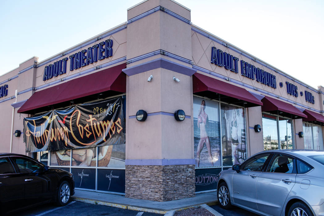 The Dj Vu Adult Emporium in Las Vegas, Tuesday, Oct. 24, 2017. Joel Angel Juarez Las Vegas Review-Journal @jajuarezphoto