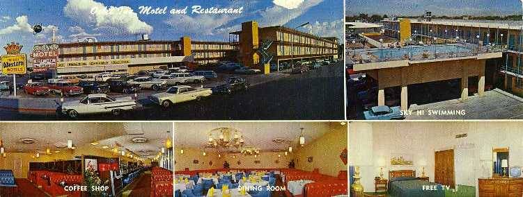 A postcard of the former Orbit Inn motel in downtown Las Vegas. (Nevada State Museum)