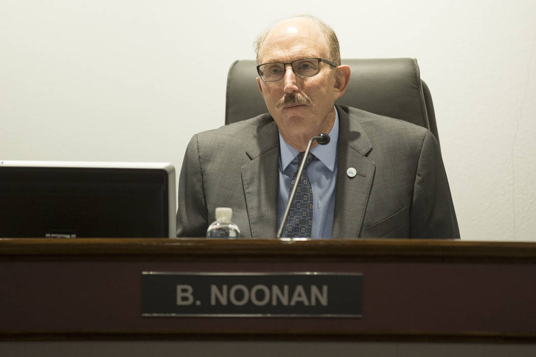 Board member Bill Noonan during the Las Vegas Convention and Visitors  Authority's audit committee meeting at Las Vegas Convention Center in Las Vegas, Tuesday, Oct. 24, 2017. Bridget Bennett Las  ...