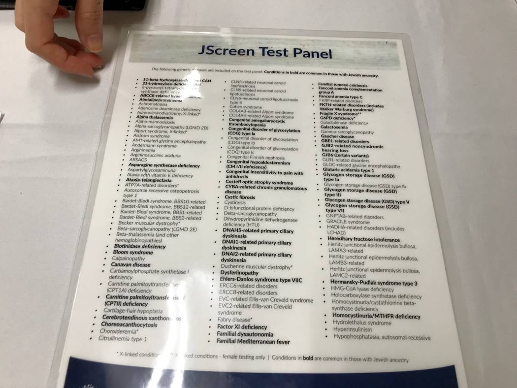 A List Of The 200 Genetic Diseases JScreen Tests For Madelyn Reese View