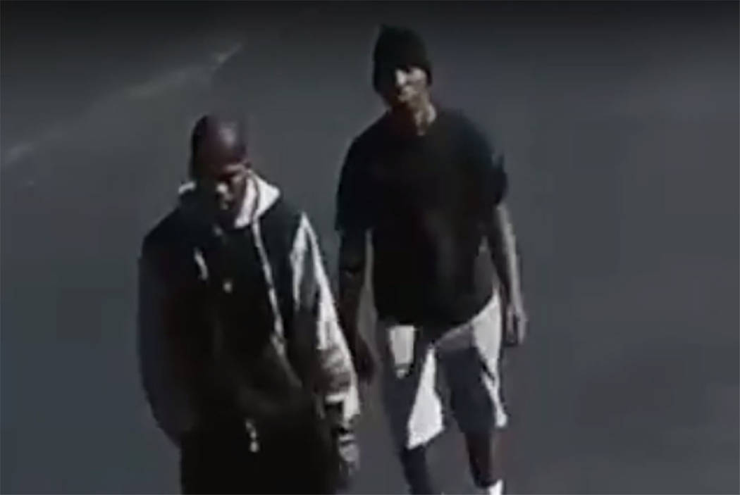 Suspects in an armed robbery in the 2500 block of South Maryland Parkway. (Las Vegas Metropolitan Police Department)