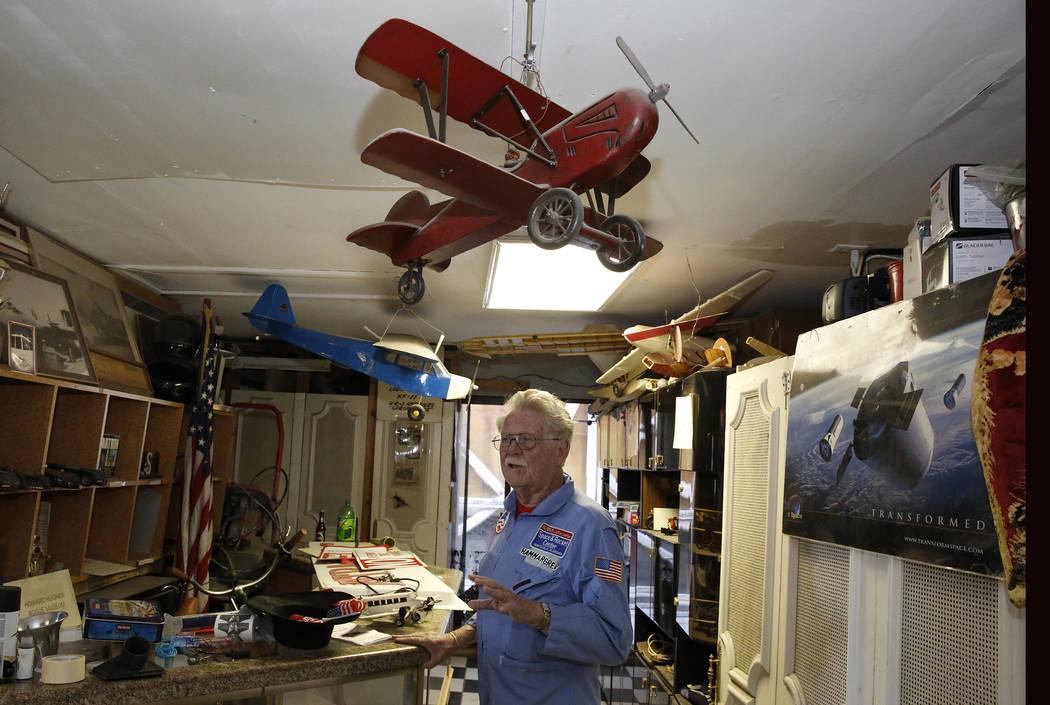 Former Lt. Gov. Dr. Lonnie Hammargren talks about his  collection of planes during a tour of his Las Vegas home at 4300 Ridgercrest Drive, Thursday, Oct. 26, 2017. Bizuayehu Tesfaye Las Vegas Revi ...
