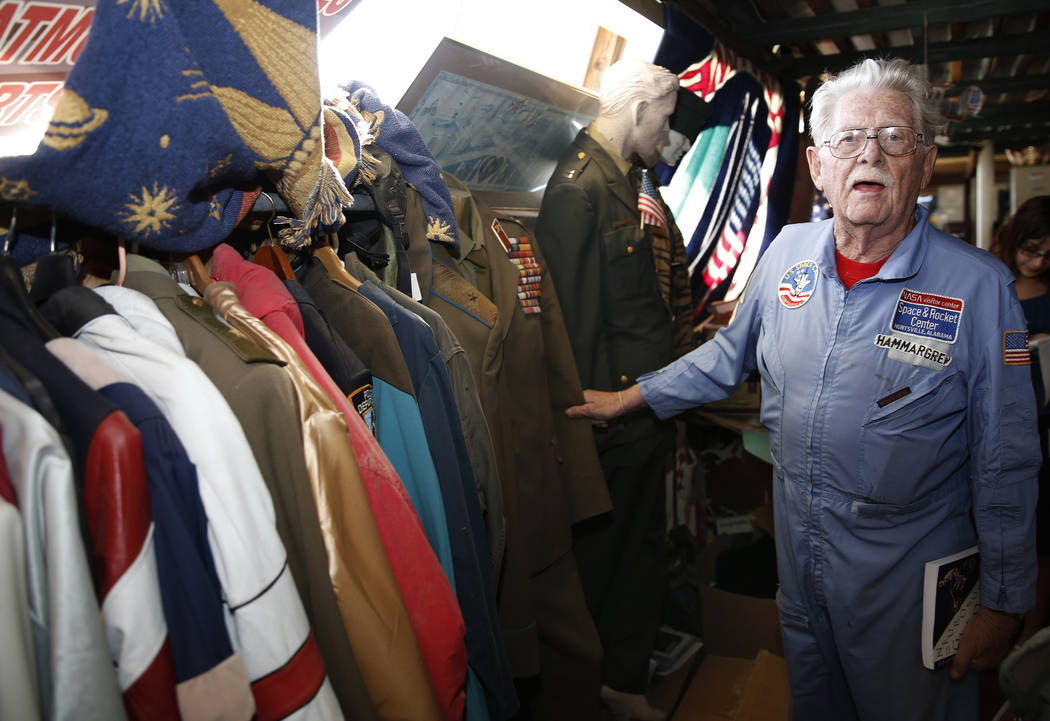 Former Lt. Gov. Dr. Lonnie Hammargren talks about his collection of jackets and uniforms during a tour of his Las Vegas home at 4300 Ridgercrest Drive, Thursday, Oct. 26, 2017. Bizuayehu Tesfaye L ...