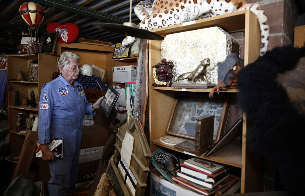 Former Lt. Gov. Dr. Lonnie Hammargren talks about his collection during a tour of his Las Vegas home at 4300 Ridgercrest Drive, Thursday, Oct. 26, 2017. Bizuayehu Tesfaye Las Vegas Review-Journal  ...