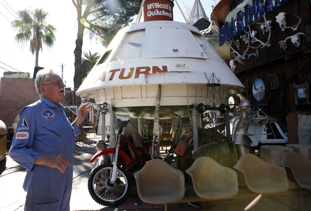 Former Lt. Gov. Dr. Lonnie Hammargren talks about his collection of the first model of the space capsule during a tour of his Las Vegas home at 4300 Ridgercrest Drive, Thursday, Oct. 26, 2017. Biz ...