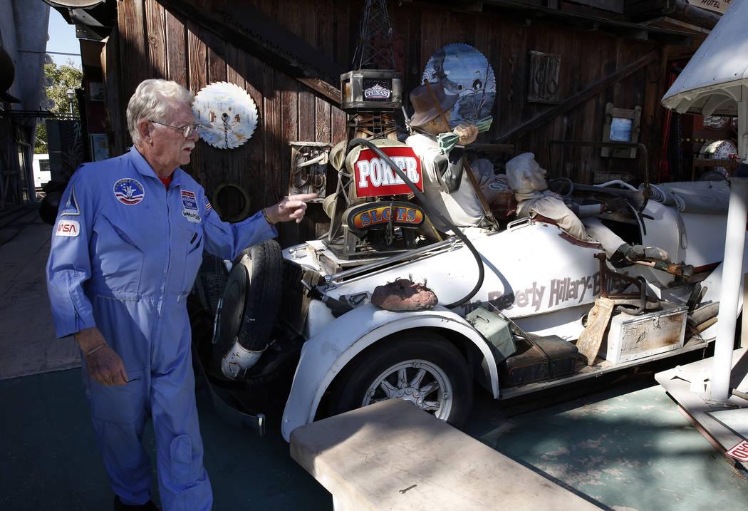 Former Lt. Gov. Dr. Lonnie Hammargren talks about his classic Franklin car during a tour of his Las Vegas home at 4300 Ridgercrest Drive, Thursday, Oct. 26, 2017. Bizuayehu Tesfaye Las Vegas Revie ...