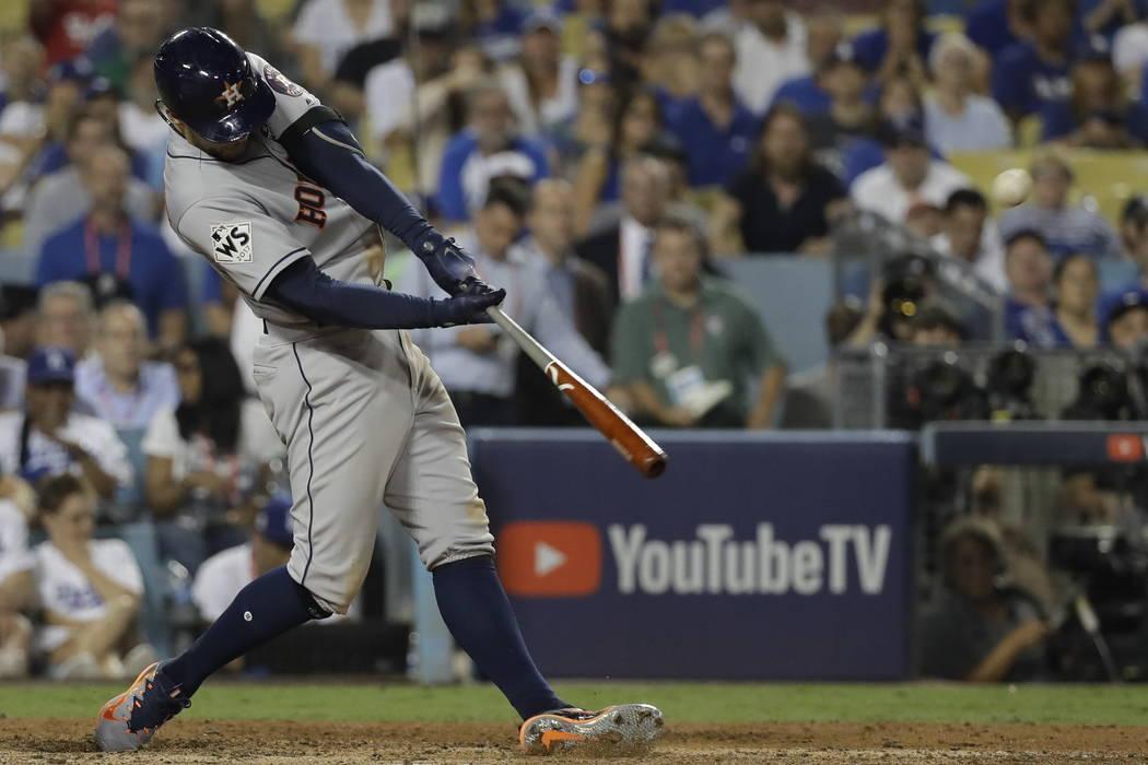 Image result for george springer home run game 2