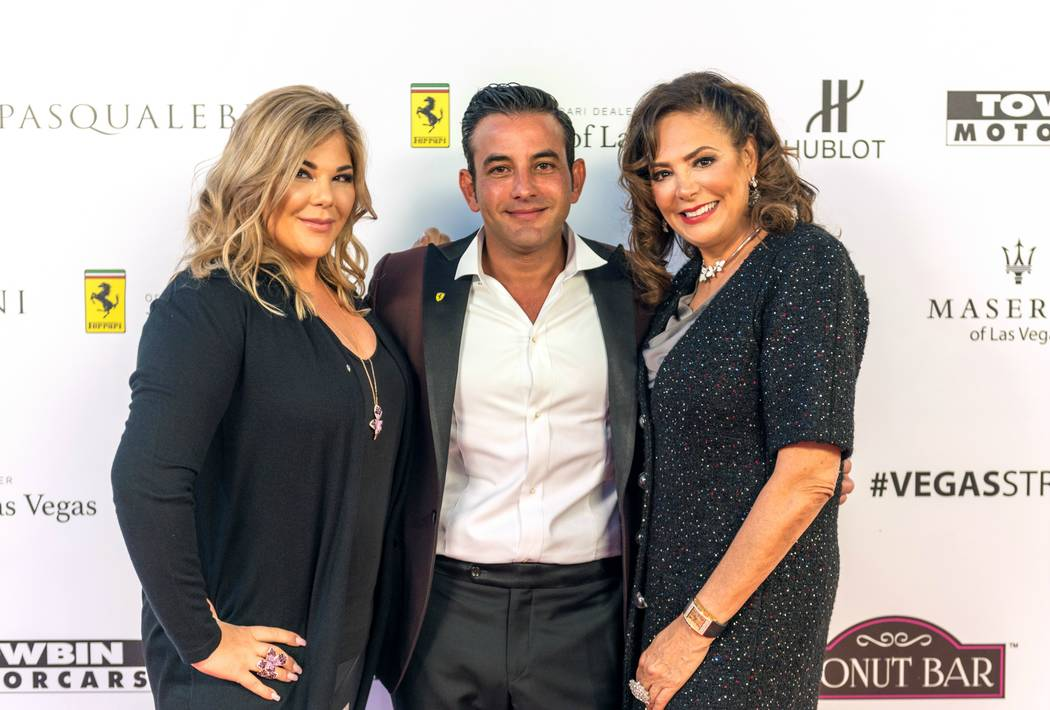 Towbin Motorcars Jesika Towbin-Mansour, Rony Mansour and Carolynn Towbin celebrate the opening of Ferrari Maserati of Las Vegas.