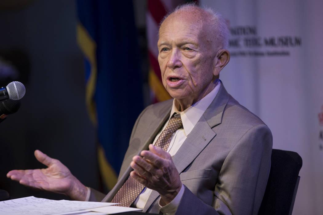 Dr. Sergei Khrushchev during a lecture at the National Atomic Testing Museum in Las Vegas, Saturday, Oct. 28, 2017. Erik Verduzco Las Vegas Review-Journal @Erik_Verduzco